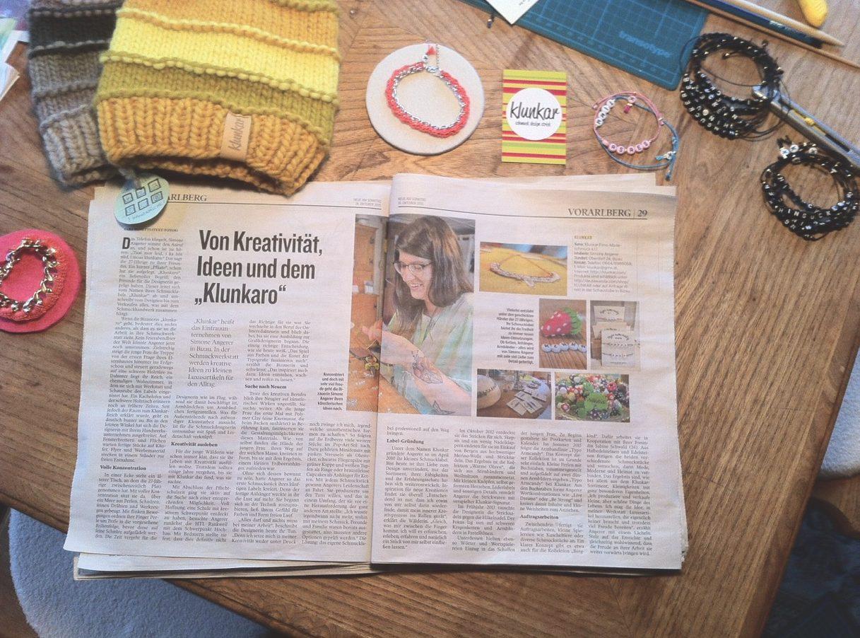 Von Kreativität, Ideen und dem Klunkaro. Pressebericht