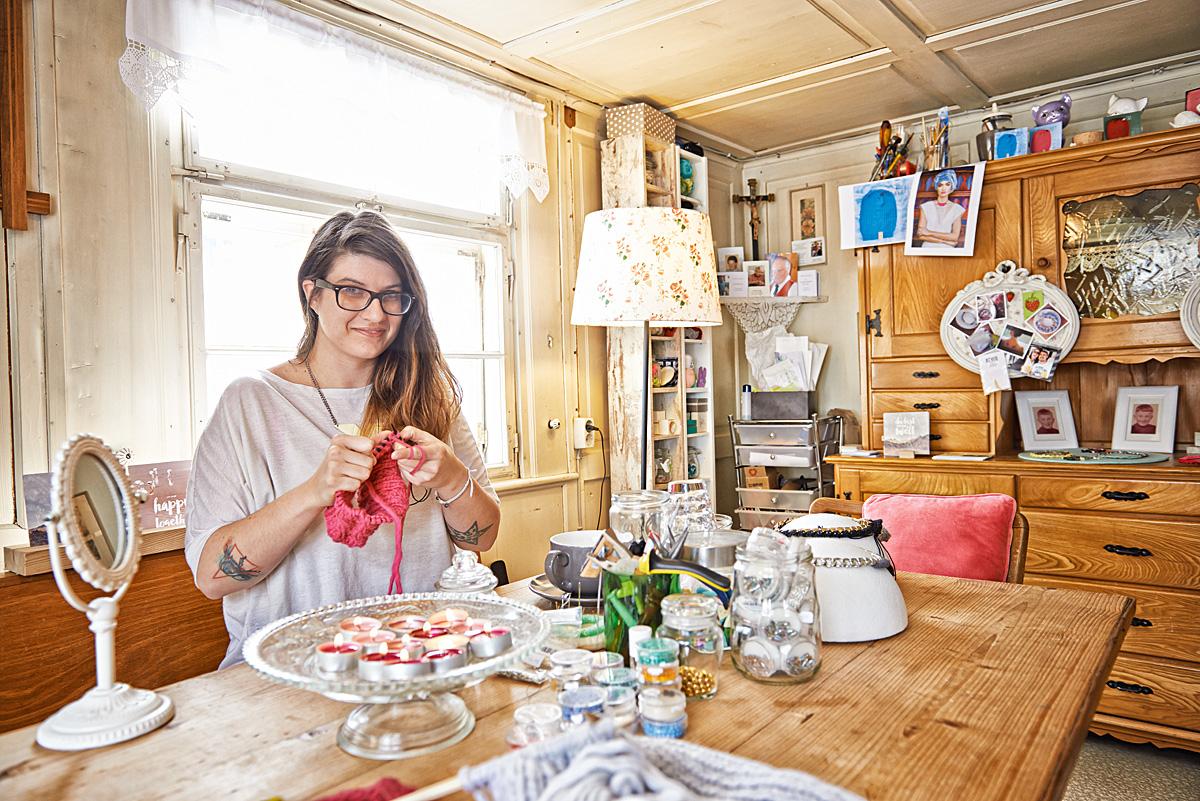 Simone Angerer im Klunkar Atelier