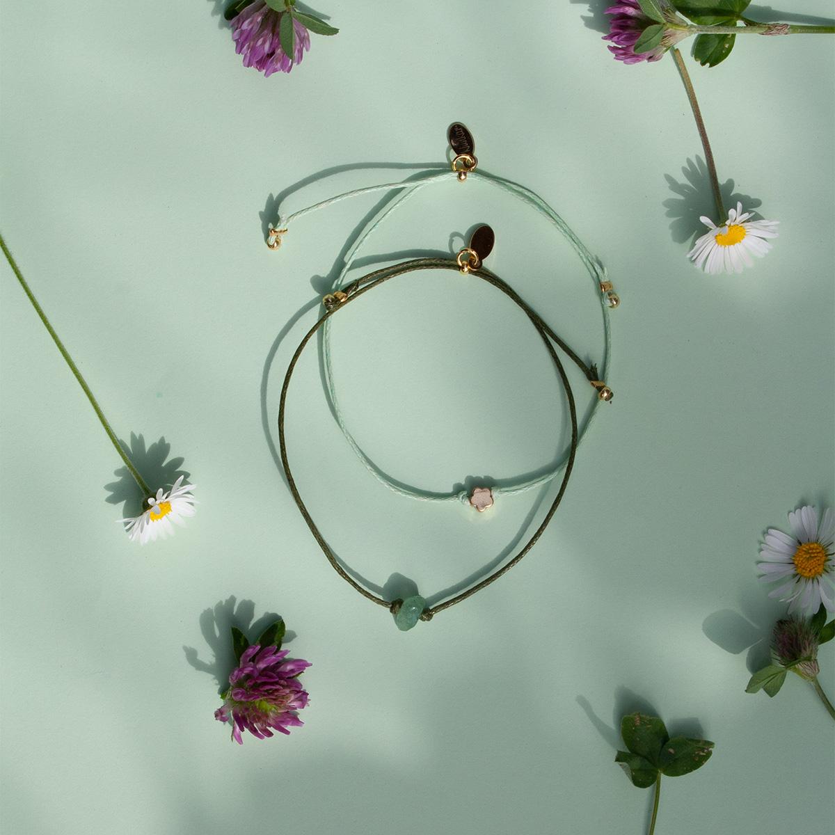 Klunkar Armband zum Frühling und Muttertag.