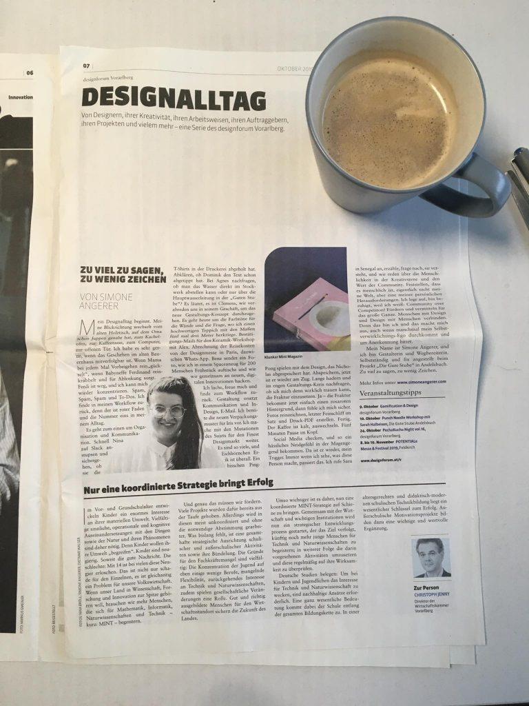 DESIGNALLTAG – Von Designern, ihrer Kreativität, ihren Arbeitsweisen, ihren Auftraggebern, ihren Projekten und vielem mehr – eine Serie des designforum Vorarlberg in der Thema Vorarlberg. Ein Text von Simone Angerer.