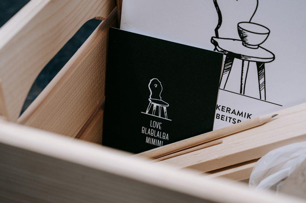 Love Blabla Mimimi Karten der Guten Stube Andelsbuch. Foto von Pia Pia Pia Berchtold.