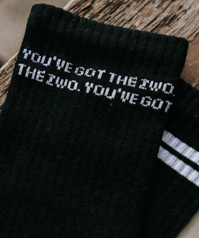 Schwarze Socken von Zwo. Sportsocken von Pia Pia Pia erhältlich bei House of Klunkar.