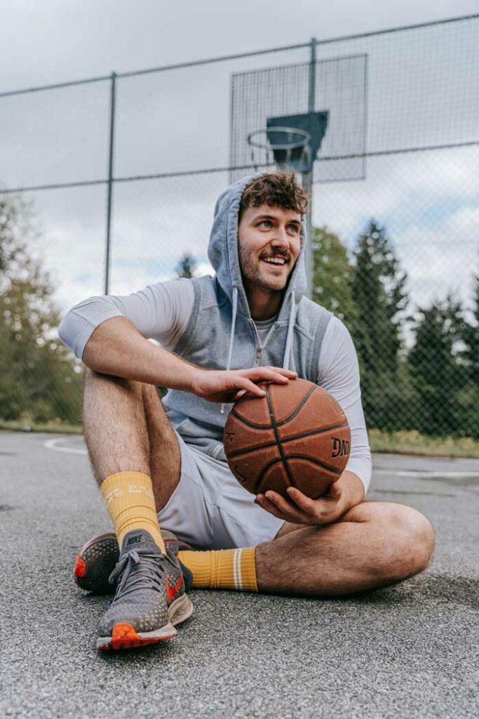Gelbe Basketball Socken von Zwo