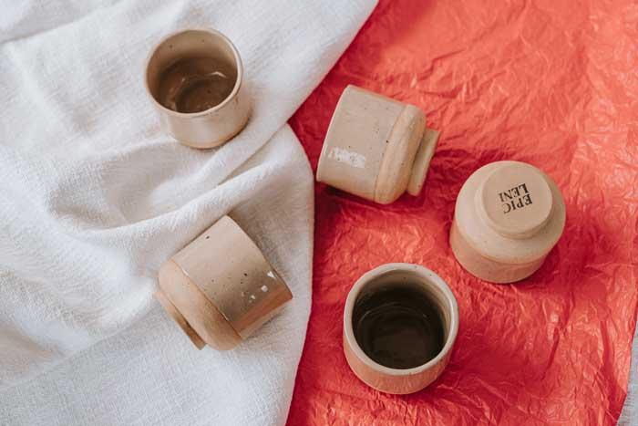 hellbrauner keramik becher lydia von epic leni