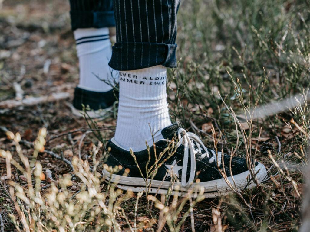 Weiße Socken von Zwo.